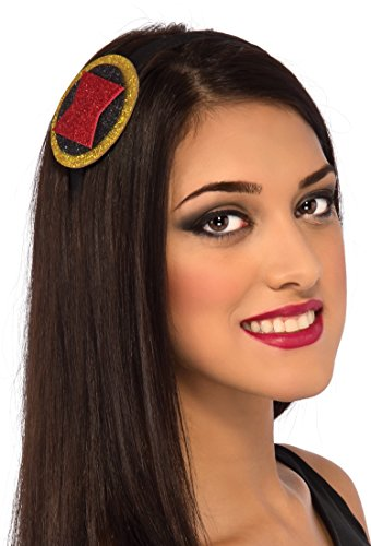 Costumes Black Teen Widow (Rubie's Costume Co Women's Marvel Universe Black Widow Head Band, Multi, One)