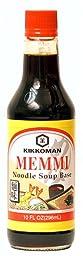Kikkoman Memmi Noodle Soup Base, 10-Ounce Bottle (Pack of 3)