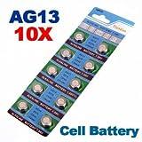 [Envoi GRATUIT 7~12 jours] 10 x AG13 LR44 G13-A D303 L1154 L1154F alcaline pile bouton // 10 x AG13 LR44 G13-A D303 L1154 L1154F Alkaline Button Cell Battery