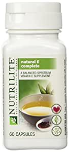 NUTRILITE Natural E Complete - All vegetarian blend of 9 forms of vitamin E (60 Capsules) by sallyashop
