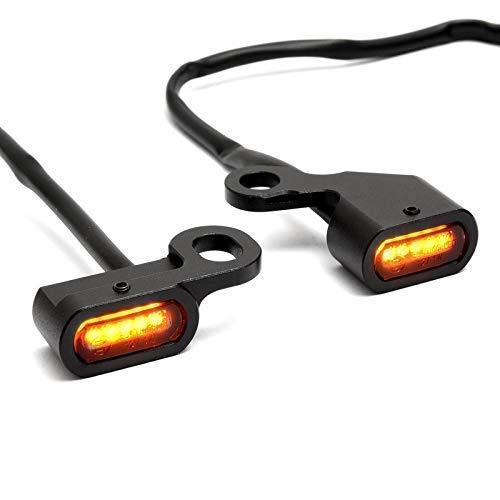 Mini LED Blinker fü r Lenkerarmatur Softail 96-14, Dyna 96-17, Sportster 96-13 ZEMEX
