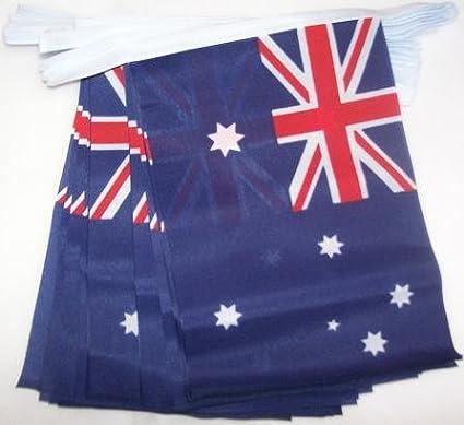 AZ FLAG Guirnalda 6 Metros 20 Banderas de Australia 21x15cm - Bandera Australiana 15 x 21 cm - BANDERINES: Amazon.es: Hogar
