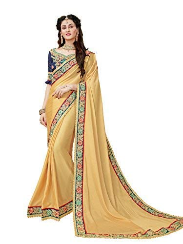 MANOHARI Embroidery Beige Georgette Saree