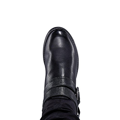 37 Femme 93158 1 Bottines Schuhgröße 00 Bottes Eu;farbe Rieker noir Tex amp; dfwqXqz