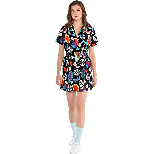 Party City Stranger Things Mall Eleven Costume for Adults, Size Small/Medium, Features a Colorful Short-Sleeve -