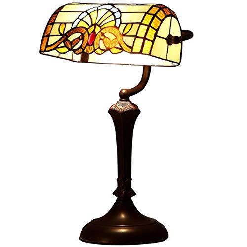 YWY Tiffany Baroque American Retro Lámpara de Mesa ...