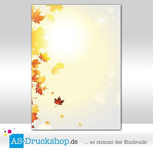 90 g-Offsetpapier 100 Blatt//DIN A5 Designpapier Herbst Bl/ätterregen