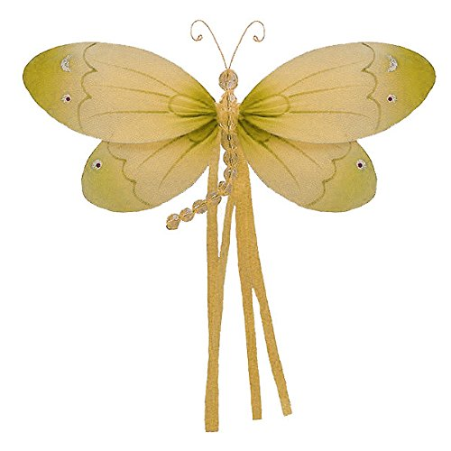 (The Butterfly Grove Riley Dragonfly 3D Hanging Mesh Nylon Decor, Yellow Daffodil, Small, 7