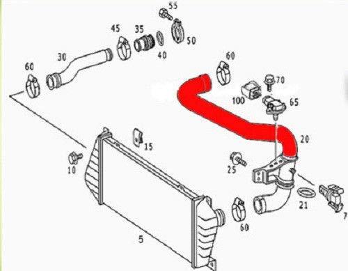 Amazon.com: Begel Germany Air Intake Turbo Intercooler Hose for Mercedes Sprinter CDI Dodge 2500/3500 1995-2006: Automotive