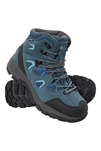Mountain Warehouse Astronomy Womens Mid Boots - Ladies Hiking Shoes Blue 9 M US Women ()