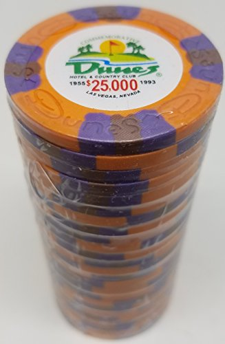 (Poker Chips - (25) $25,000 Dunes Commemorative 9 gram Clay)