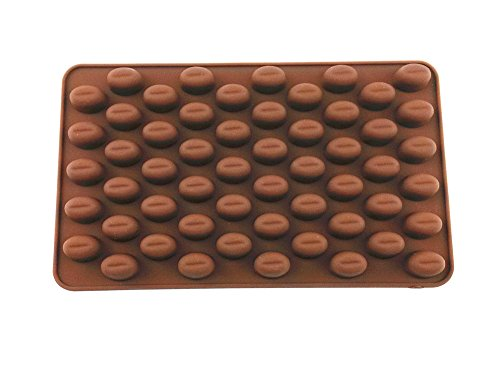 yueton 55 Cavity Silicone Coffee Beans Mold Chocolate Candy Ice Cube Tray Cake Decoration Bakeware Mould Maker ()