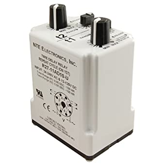 NTE Electronics R27-11AD10-u Time Delay Relay, -20 Degree C to +55 on gas valve wiring, timer wiring, control wiring, time delay fuse box, contactor wiring, resistor wiring, surge protector wiring, inverter wiring, cable wiring, condensate pump wiring, distributor wiring, potentiometer wiring, strobe light wiring, time delay stop start, air conditioner motor wiring, thermostat wiring, blower motor wiring, time delay module, terminal block wiring, switch wiring,