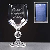 Personalised 2oz/56ml Crystal Port Or Sherry Glass; Wonderful Birthday, Anniversary or Christmas Gift