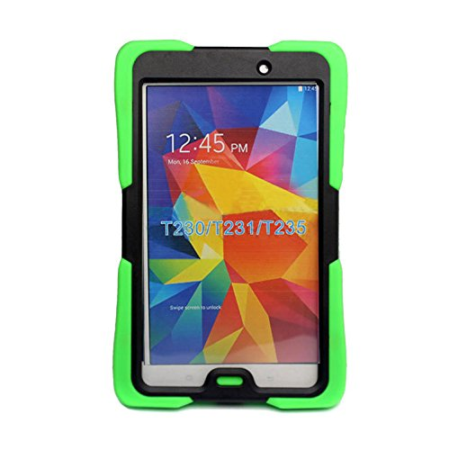 Lovelifemall Samsung Galaxy Tab 4 7.0 Kids Case -Durable Heavy Duty Rugged Impact Hybrid Case with Built-in Screen Protector For Samsung Galaxy Tab 4 7.0 (SM-T230 / SM-T231 / SM-T235) (Green)
