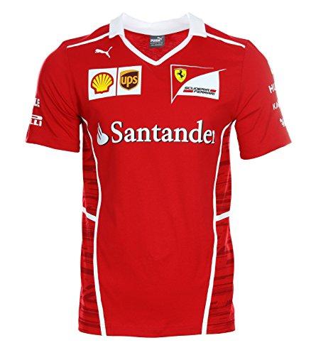 Scuderia Ferrari Formula 1 Men's 2017 Sebastian Vettel Team T-shirt w/Sponsors - Ferrari Shop Italy