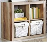 Better Homes and Gardens Wood Storage Square Organizer 4-Cube in Weathered