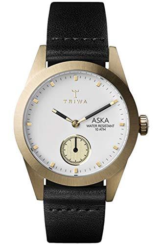 Triwa aska Womens Analog Japanese Quartz Watch with Leather Bracelet AKST101SS