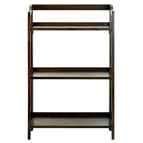 Casual Home 337-34 Stratford 3-Shelf Folding Bookcase-Warm ()