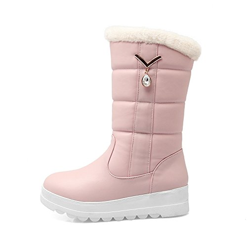 BalaMasa Diamond Ornament Glass Pink Girls Boots Imitated Metal Platform Leather rwCrq