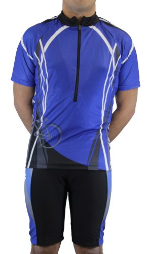 Maks Cycling Jersey with Sublimation Print Race Cut Short-Sleeve Bike Biking Shirt
