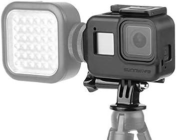 Honbobo Vlog Estuche de protección para Gopro Hero Black 8 Extienda el Montaje de Zapata fría para luz LED de micrófono: Amazon.es: Deportes y aire libre
