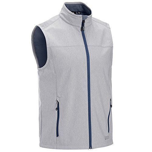 Eastern Mountain Sports EMSAr Men Rampart Soft-Shell Vest Ensign Blue Htr ()