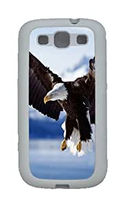 Bald Eagle In Flight Alaska Custom TPU Rubber Soft Case and Cover for Samsung Galaxy S3 /S III White