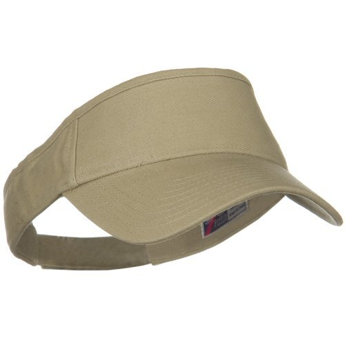 Brushed Bull Denim Sun Visor - Khaki OSFM