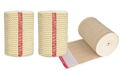 NexSkin Cotton Elastic Bandages w/Hook and Loop Closure, 3