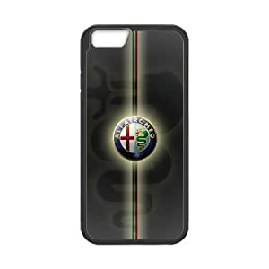 iphone6 4.7 inch Phone Case Black Alfa Romeo Logo UYUI6838469