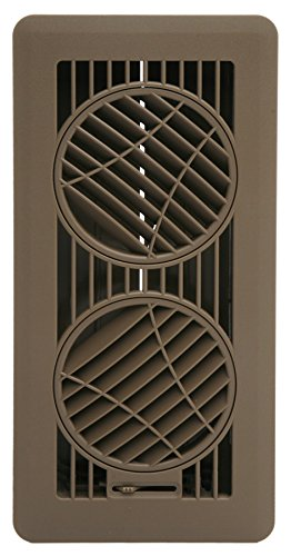The Deflector Floor Vent Register with 360 Degree Directional Air Flow (4