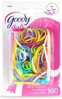 (Goody Girls Ouchless Polybands Latex Elastics Assorted Colors 160 Count Item #32086)