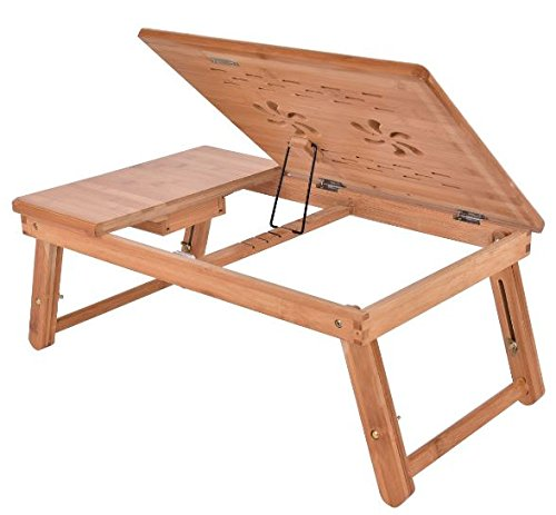 K&A Company Bed Laptop Bamboo Folding Notebook Table Tray Desk Stand Computer Adjustable Portable Sofa Lazy by K&A Company