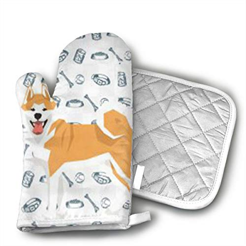 QEDGC 3D Dog Oven Mitts Cooking Gloves Heat Resistant, for K