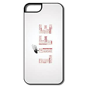 Vintage Customize Hard Cover Nice IPhone 5 5s Cases - Life Typography