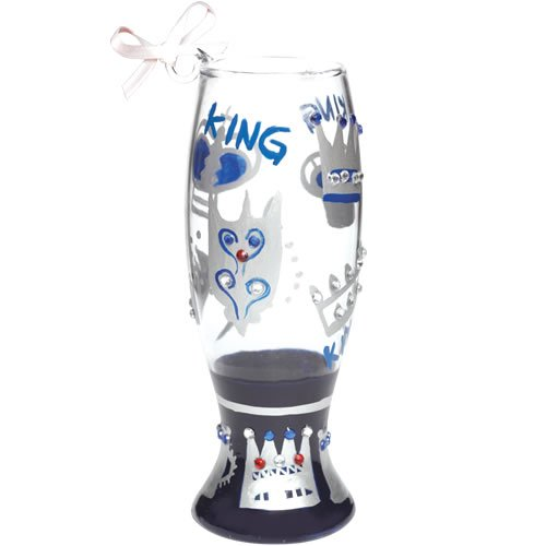 Lolita Mini Pilsner King Ornament - Wine Martini New Love ORN6-5565K (Wine Glass Lolita Ornament)