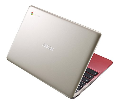 ASUS C201 11.6 Inch Chromebook (Rockchip, 4 GB, 16GB SSD, Lotus Gold/Red)