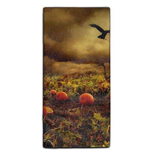 Miaoquhe Over Size Luxury Towel, Large Size 11.8 X 27.5 Inch Soft and Reversible Absorbent Polyester Velvet,Thick and Plush Holiday Halloween Towel]()