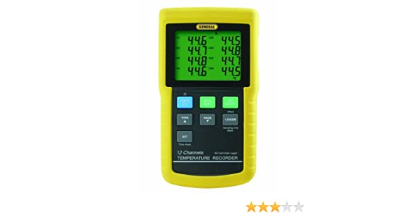 General Tools DT4208SD Data Logging Digital Thermometer with Excel Format SD Card, 12 Channel - Multi Testers - Amazon.com