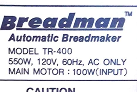 Remo para amasar cuchilla para Breadman modelo TR400 Pan máquina ...