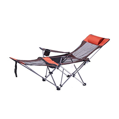 ZXQZ Folding Reclining Chair Folding Chair - Portable Recliner Outdoor Camping Folding Chair Multi-Function Household Nap Lounge Chair Zero Gravity Chair Recliner