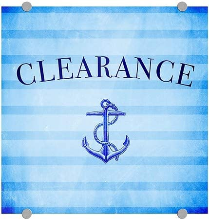 Clearance 16x16 Nautical Stripes Premium Acrylic Sign 5-Pack CGSignLab
