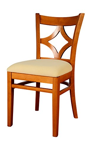 Seat Beech Solid - Beechwood Mountain BSD-23S-C Solid Beech Wood Side Chairs in Cherry for Kitchen and dining, set of 2