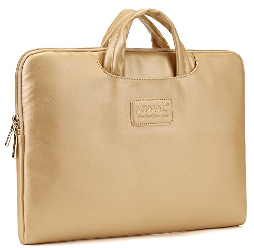 Kinmac Gold Color Laptop Briefcase 14 Inch Macbook Pro 15 Sleeve Bag 14.1 Inch for Dell Hp Lenovo Sony Toshiba Ausa Acer Samsung Thinkpad Laptop Case