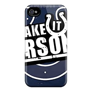 Iphone 4/4s Zxr16954gvfr Unique Design Beautiful Indianapolis Colts Pattern Shock Absorbent Hard Cell-phone Cases -LavernaCooney