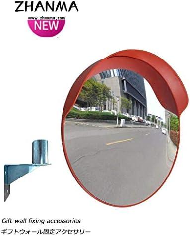 カーブミラー 工場ワークショップブラインドスポットのための耐久性と軽量飛散防止安全凸面鏡PC RGJ4-11 (Size : 800mm)