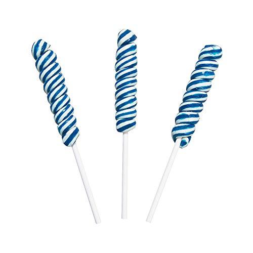 Fun Express - Blue Mini Twisty Pops for Wedding - Edibles - Sucker & Pop - Swirl & Twist Pops - Wedding - 24 Pieces ()