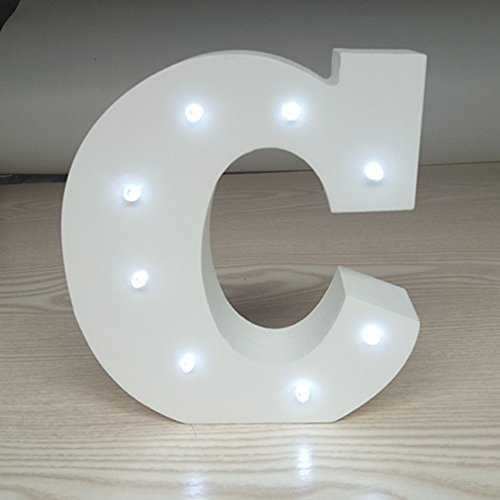 ARTSTORE Decorative DIY LED Letter Lights Sign,Light Up Wooden Alphabet Letter Battery Operated Party Wedding Marquee Dcor,Cold White C