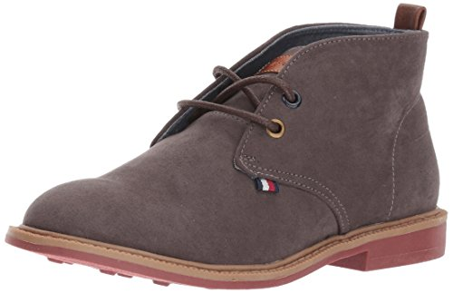 Tommy Hilfiger Kids Boys' Michael Chukka, Dark Gray, 5 M US Big Kid